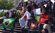 Pregopontocom Tudo: Revolução dos Cravos: brasileiros em Lisboa fazem ato de apoio a Dilma ...