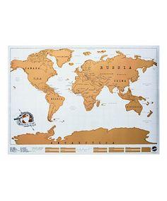 Look at this #zulilyfind! World Scratch Map Wall Decal #zulilyfinds