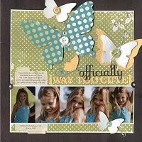 Very cute, think I'll use these butterfly dies in a layout of my niece