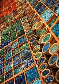 BEAD STORES. I can spend hours and hours searching for special treasures and being inspired by the colors and materials!