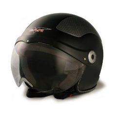 Moto Casco Scooter Moto Crash Flip Cara Medio Casco M L XL XXL Matte Negro Blanco