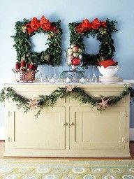 DIY evergreen frames for Christmas