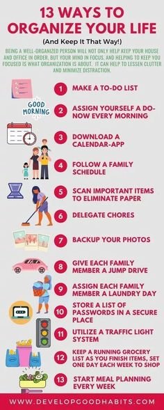 Ways to Organize Your Life | organize your life app | organize my life planner Organize Your Life, Transform Your Life, Declutter Books, Life App, Planner Organization, Life Planner, That Way, Infographic, Infographics