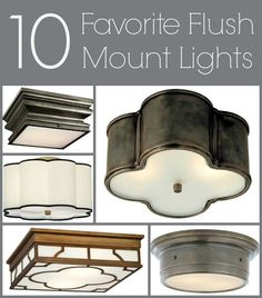 Driven By Décor: Flush Mount Ceiling Lights: Weeding Through the Ugly To Find My Faves