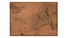 Map of the Battle field (Library of Congress)