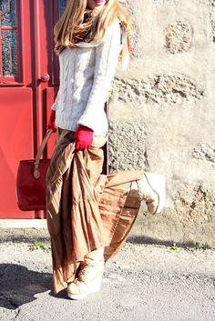 Winterizing the long skirt