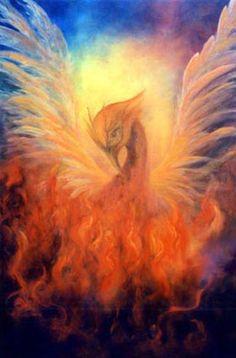 """The Phoenix Rising"" Visionary, Healing & Angel Art Gallery Phoenix Art, Phoenix Rising, Phoenix Painting, Phoenix Images, Phoenix Legend, Firebird, Painting Prints, Fine Art Prints, Canvas Prints"