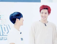 Chanyeol's pained smile after eating an spicy pepper (GIF)