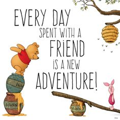 Winnie the pooh quote about friendship: 65 best images about thema winnie the pooh spreuken Life Truth Quotes, Mom Quotes, Happy Quotes, Bible Quotes, Words Quotes, Bible Verses, Funny Quotes, Sayings, Adventure With Friends Quotes