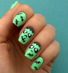 Ksu Esu: Маникюр на Halloween    http://www.ladyqueen.com/15pcs-nail-art-design-brush-set-dotting-dot-pen-drawing-na0084.html