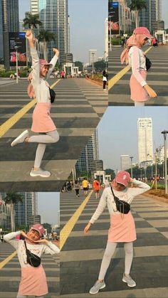 Cfd an yuk Casual Hijab Outfit, Ootd Hijab, Hijab Chic, Ootd Poses, Airport Fashion Kpop, Hijab Fashion, Fashion Outfits, Best Photo Poses, Hijabi Girl