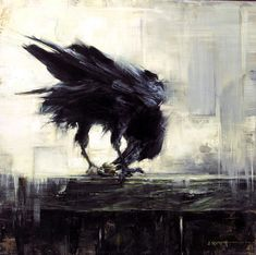 Abstract painting Animal - Crow bird Handpainted abstract art canvas oil painting home decor no frame Crow Painting, Oil Painting Abstract, Abstract Art, Oil Paintings, Images D'art, Crow Bird, Raven Art, Crows Ravens, Wow Art
