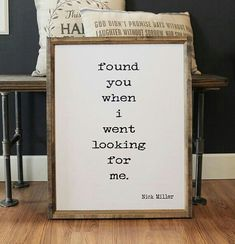 Found You When I Went Looking For Me Wood Framed Sign, Bedroom Wall Decor, Wall Hanging - Wood Projects