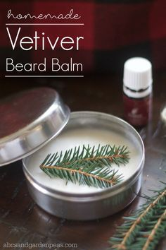 DIY Vetiver Beard Balm: GIfts for the Bearded Man Got a bearded man on your gift list? Gift them with this homemade beard balm scented with vetiver essential oil. Homemade Beauty, Diy Beauty, Beauty Ideas, Beauty Tips, Beard Gifts, Vetiver Essential Oil, Diy For Men, Beard Balm, Beard Oil And Balm