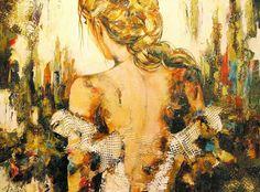 Céline Brossard, Celine, Mixed Media Art, Portrait, Abstract, Painting, Inspired, Art, Musica, Paint