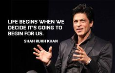 Quote Of The Day - from SRK!