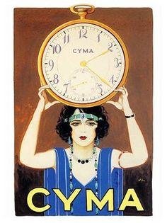 Lovely Cyma Art Deco ad