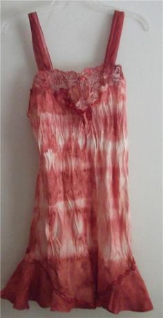 For True & Free people DIY Hand Dyed Vintage Slip Dress SZ Small FREE S/H USA