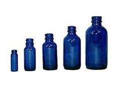 Cobalt Glass Bottles with Dropper  .5-oz., 1-oz. and 2-oz. sizes are $1.75/ea (can also order bulk)