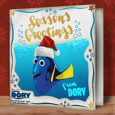 Here's wishing you an early Merry Christmas and a Happy New Year from Finding Dory!