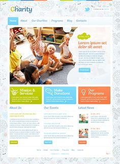 Template 43375 - Charity & Children WordPress Theme
