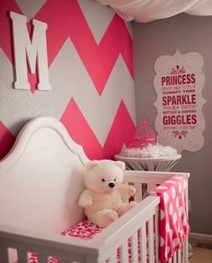 Pink, Grey, & White Nursery.