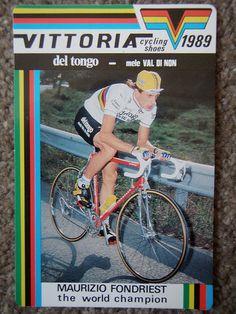 Maurizio Fondriest - the world champion.    Vittoria Cycling Shoes