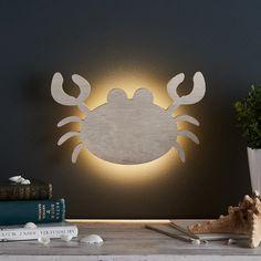 Crab Children's Wall Light   Lights4fun.co.uk Seaside Bedroom, Seaside Theme, Kids Bedroom, Underwater Bedroom, Underwater Theme, Nautical Nursery, Nautical Baby, Bedroom Themes, Nursery Themes