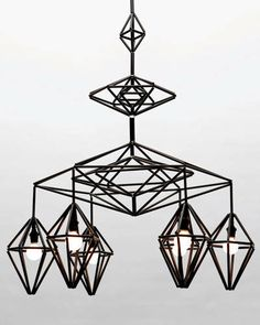 A chandelier in the Himmeli series.