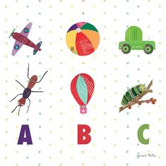 A,B,C print by Sarah Millin, available from WIld Apple Graphics, Vermont