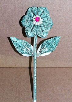 Shamrock origami shamrock money shamrock dollar bill shamrock details about money dollar origami magic flower graduation holiday birthday unique gift decor mightylinksfo Images