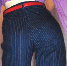 Gitano pin stripe jeans, had them.