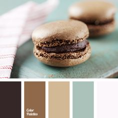 baby blue, beige, chocolate, chocolate color, coffee, coffee color, coffee macaroons, color matching in interior, creamy, dirty gray, gray-turquoise, turquoise and chocolate.