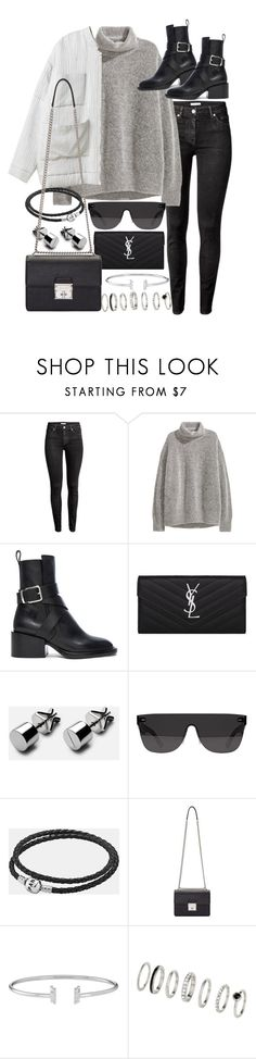 """Untitled #20645"" by florencia95 ❤ liked on Polyvore featuring H&M, Jil Sander, Yves Saint Laurent, RetroSuperFuture, Pandora and Dolce&Gabbana"