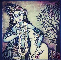 Little Krishna, Krishna Love, Krishna Art, Radhe Krishna, Lord Krishna, Krishna Painting, Indian Art Paintings, Indian Gods, Animal Drawings