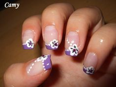 perfect french manicure nail art 2015