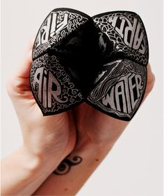 The most beautiful cootie catcher ever. Designed by YIU STUDIO