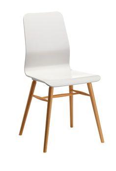 Stuhl FORNIA, Buche lackiert weiss