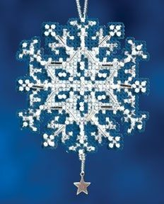 Star Crystal Christmas Ornament - Counted Cross Stitch kit by Mill Hill