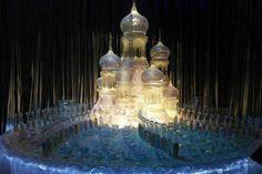 """Belíssima decoração do Baile de Inverno (4° livro/filme). É possível ver bem de pertinho no """"Harry Potter Studio Tour"""", localizado na Inglaterra."""