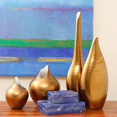 Global Views Golden Stripe Vase