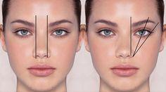 richtig augenbrauen formen Nasenbein Augenposition #beauty #style