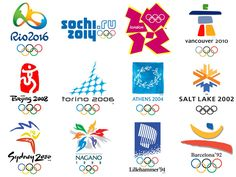 Evolution of the Olympic logo, from recently introduced logo Olympics 2016 in Rio de Janeiro, ending the Olympic logo – 1924 in Paris. More on INSPIX Rio Olympics 2016, Tokyo Olympics, Summer Olympics, Nagano, Type Logo, Olympic Logo, City Logo, Event Logo, Fathers Day Crafts