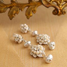 Handmade Lace Bridal Earrings Wedding Jewelry Photos on WeddingWire
