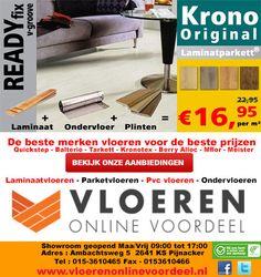 Laminaatvloeren aanbiedingen. Pak je voordeel en richt je woning of kantoor strak en modern in voor weinig! Het kan bij www.vloerenonlinevoordeel.nl online de beste laminaatvloeren aanbieder.