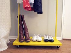For hanging those clothes / storing those items we don't want but want to save for a garage sale.