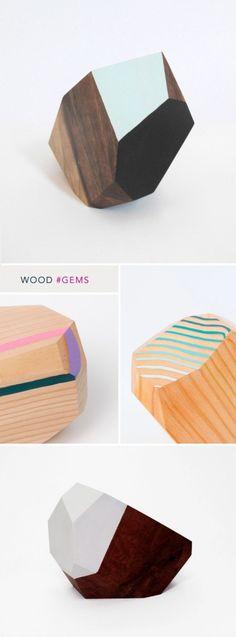 ART ROUND UP : TRENDING GEMS. (wood gems by Haley Ann Robinson)