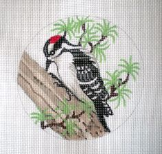 Snowy Woodpecker by colors1 on Etsy, $35.00