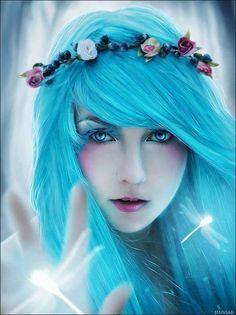Beautiful woman fantasy art