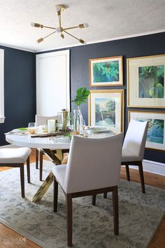 Dining Room Makeover Impressive Moody Dining Room Makeover  Room Funky Junk And Small Spaces Review